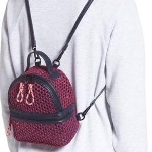 Steve Madden Mini Woven Mesh & PVC Backpack